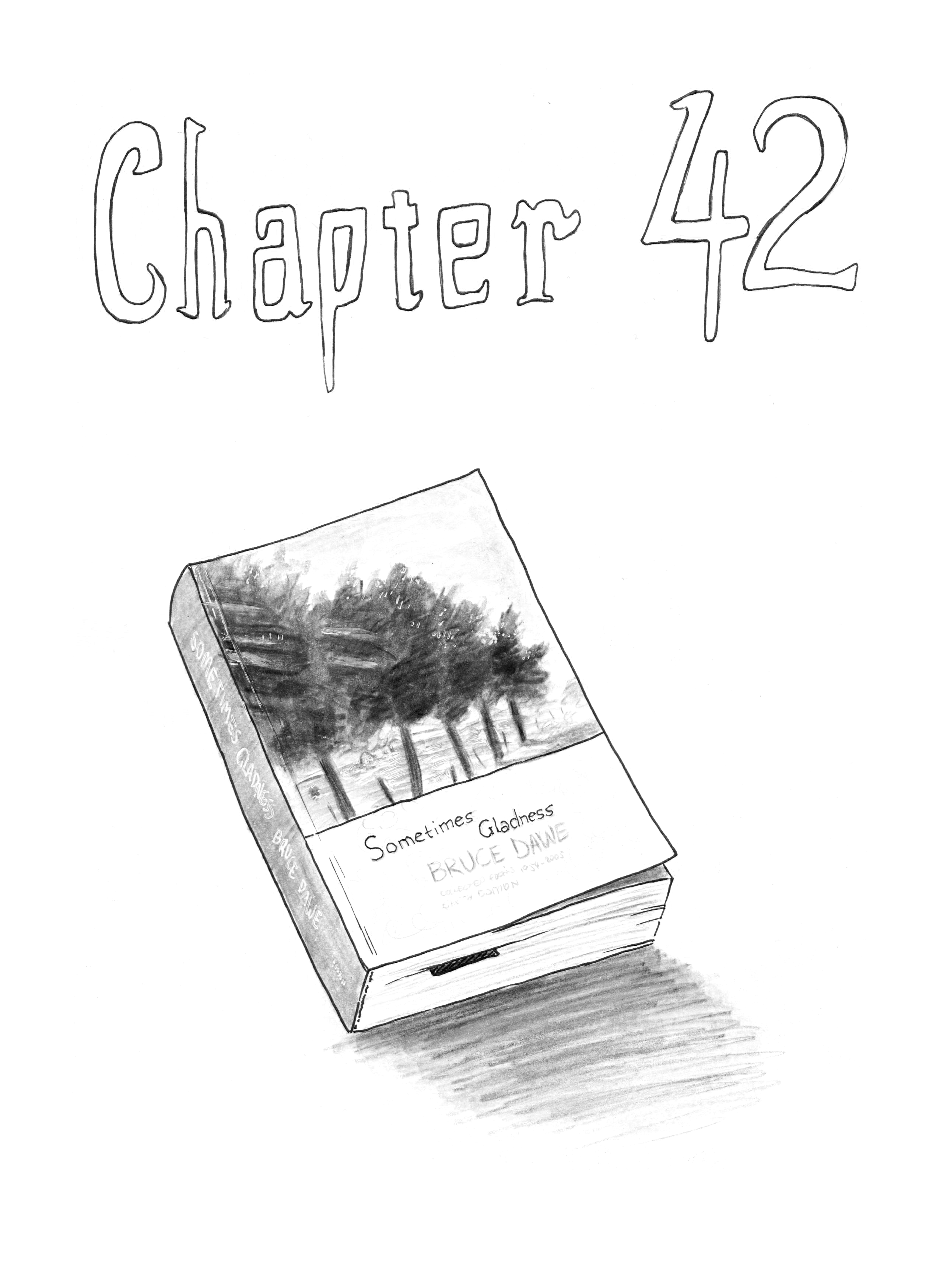sometimes you just gotta draw a specific book (also, cw for more discussion of suicide this chapter)