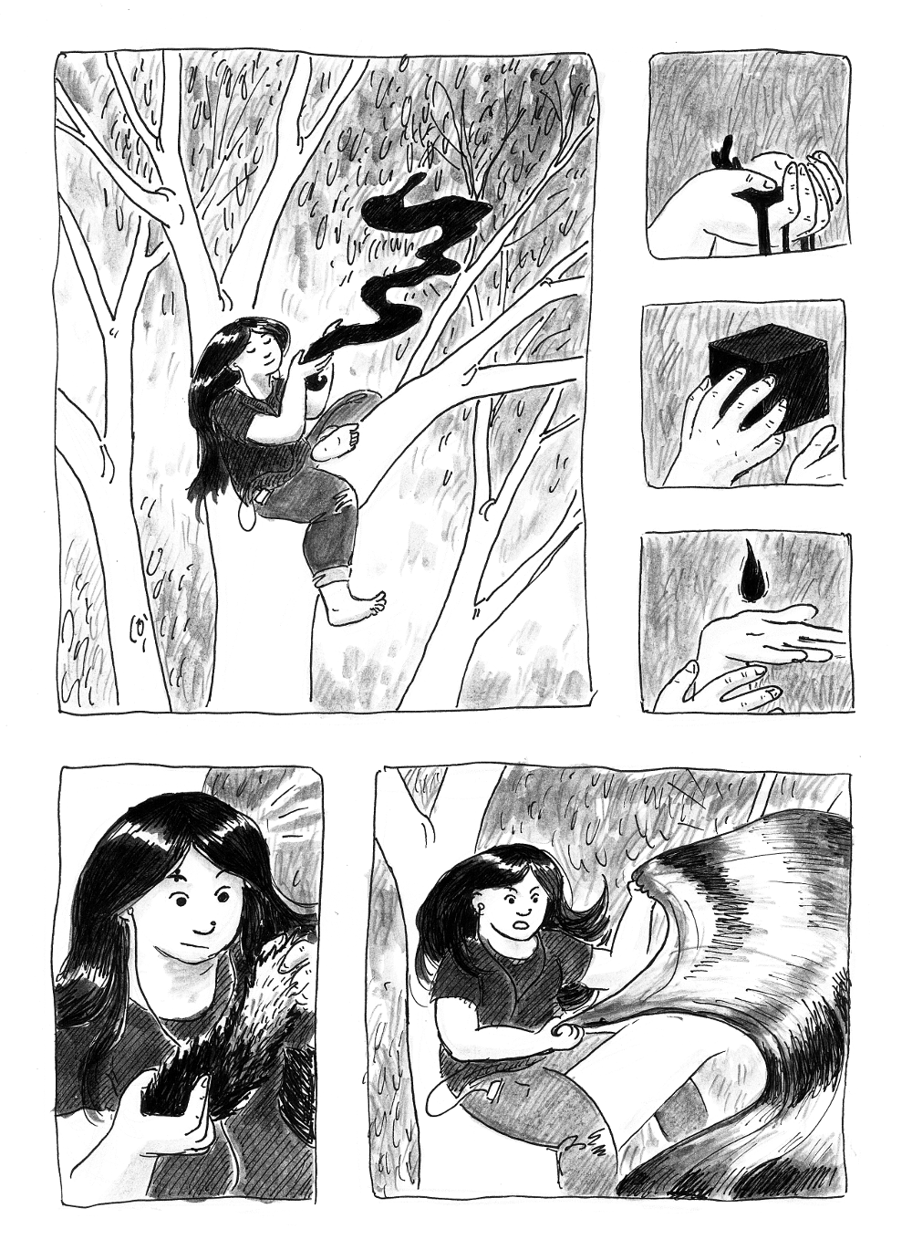 NOTE: THIS COMIC IS IN BLACK AND WHITE