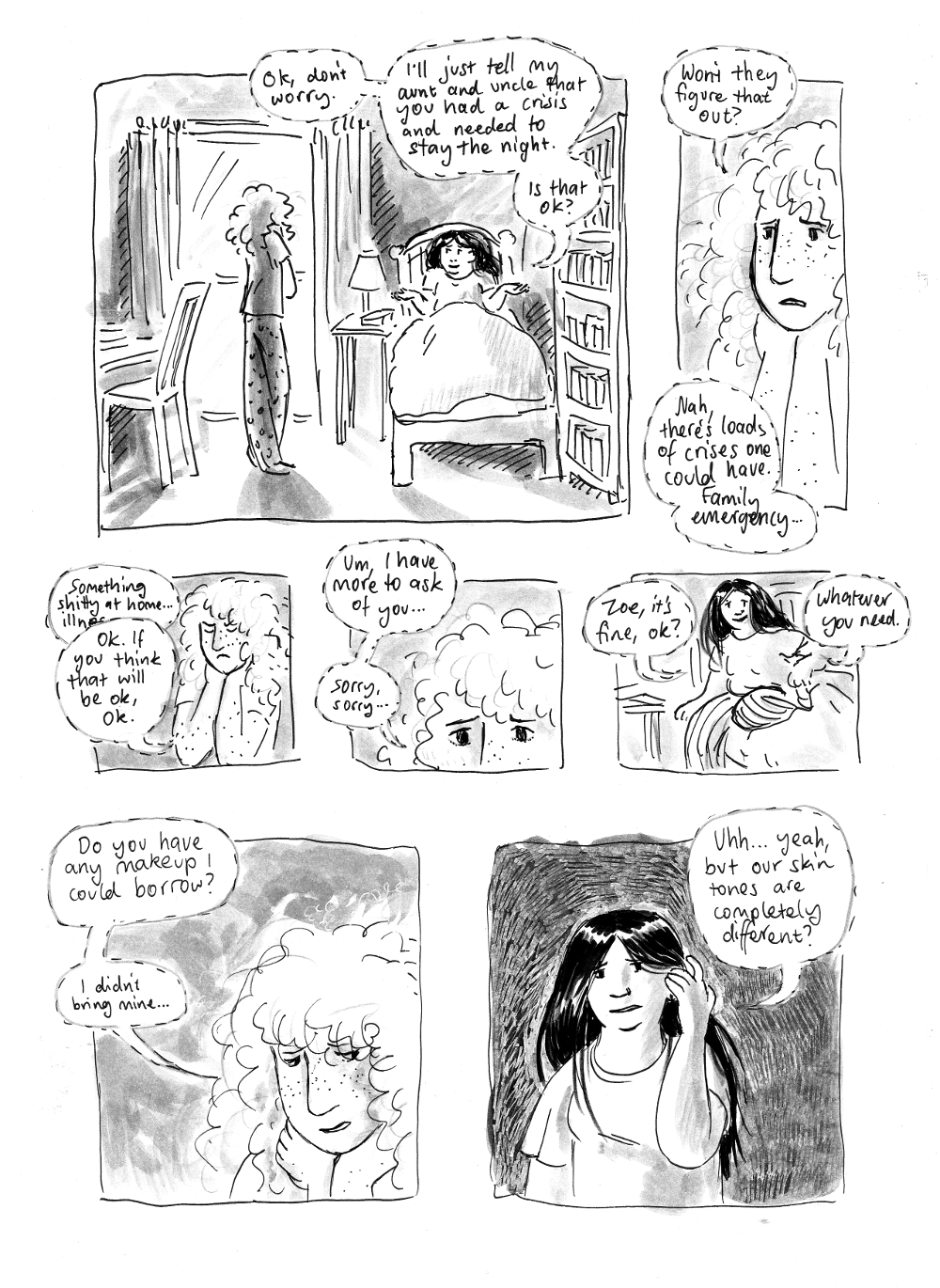 again... this comic is in black and white...