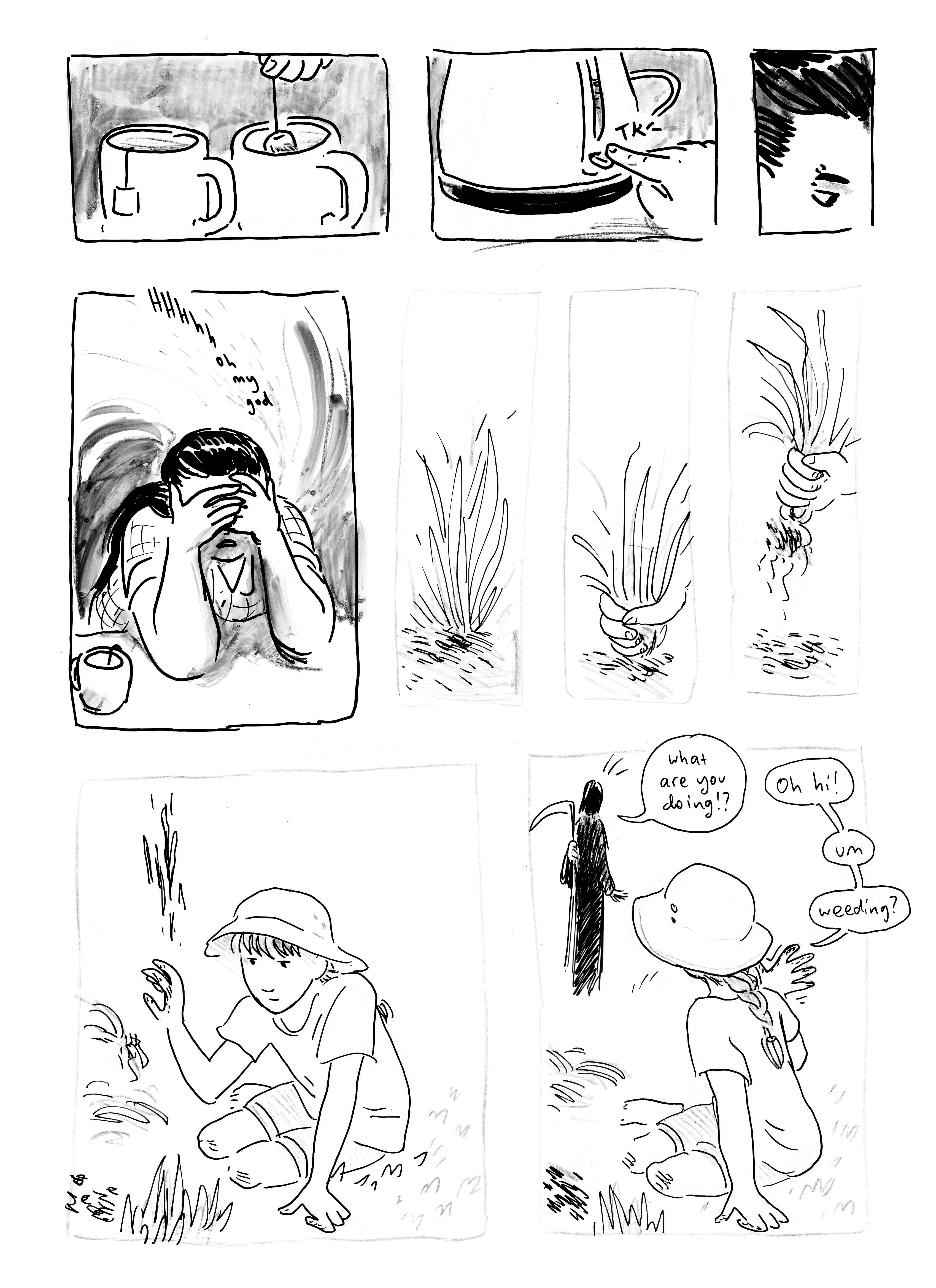 this may be the only time weeds are discussed in the comic, despite my website's general aesthetic theme